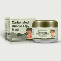 HOT  SELL   100g   hot deep pore Cleansing Clay Mask Carbonated Bubble Anti-Acne Moisturizing Face Mask
