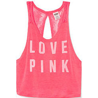 Open Back Muscle Tank - PINK - Victoria's Secret