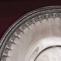 Reed & Barton Art Nouveau Silver Plated Sandwich Plate in Riviera by Silverplate 1202