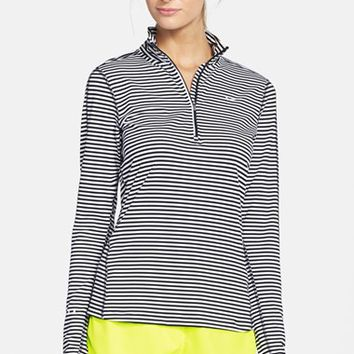 Women's Nike 'Element' Stripe Half-Zip Top