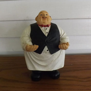 Whimical Bar Accessory - Waiter Butler Bar Accessories Holder/Statue/Figurine (Polyresin)