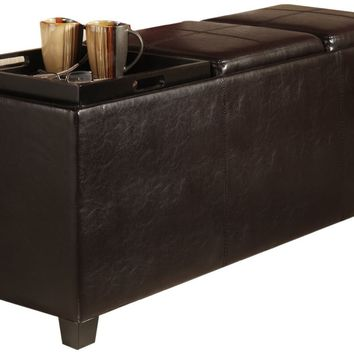 Anzy Designs-4-Comfort Tribeca Ottoman with 3 Tray Tops