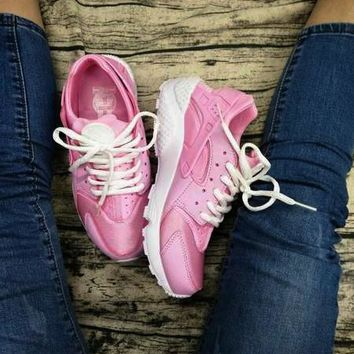 NIKEAIR Huarache Running Sport Casual Shoes Sneakers pink B-1