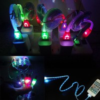 New Arrival High Quality Light-up LED USB Data Sync Charger Cable Charging Cord for Mobile Phone Universal