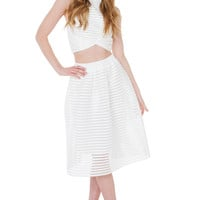 Sweetest Pain White Midi Skirt