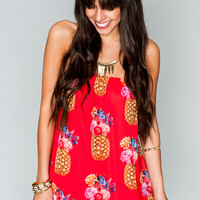 Show Me Your mumu Lorraine Tube Dress ~ Pineapple Pineapple