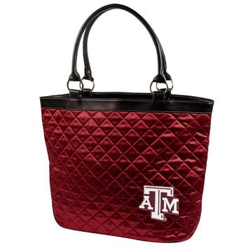 Texas A&M Aggies NCAA Quilted Tote (Dark Red)