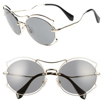 Miu Miu 57mm Retro Sunglasses | Nordstrom