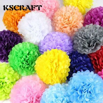 "KSCRAFT Wedding decoration 30pcs 4"" 6"" 8""(10cm 15cm 20cm) Tissue paper pom poms balls baby shower party decoration supplies"