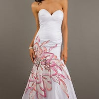 Strapless Sweetheart Floor Length Mermaid Dress