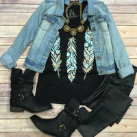 3 Blingy Feathers: Black