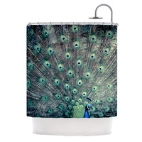 "Ann Barnes ""Majestic"" Peacock Feather Shower Curtain"