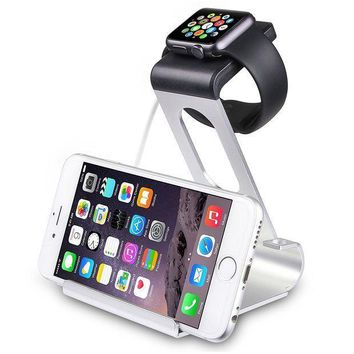 Sparin Apple Watch Series 3 / 2 Stand Aluminum Changer Stand Dock Holder With Premium Stylus Pen For All Apple Watch Models And Iphone Silver