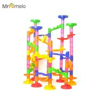 MrPomelo 2016 Colorful Pipeline Type Puzzles 105pcs Maze Learning Education Toys For Kids Classic Endless Track Design Fun Kit
