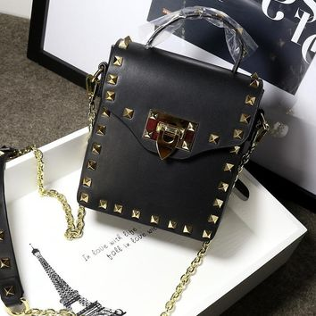 New leather Shoulder chain handbag Korean version