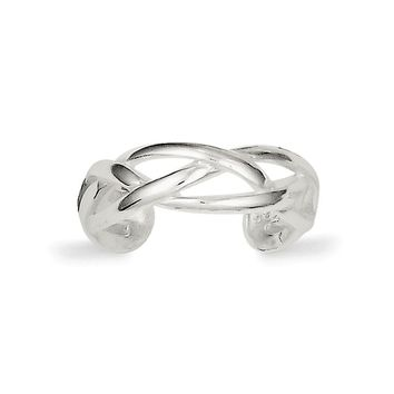 925 Sterling Silver Woven Toe Ring