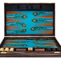Peacock Backgammon Board