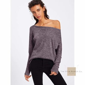Batwing Sleeve Sweater T