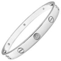 Cartier Love Six Diamond White Gold Bangle Bracelet