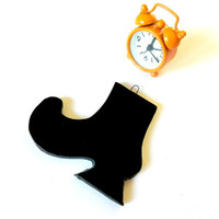 Halloween Witch Boot Black Ceramic Eco Friendly Ornament in Recycled Box