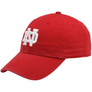 47 Brand Notre Dame Fighting Irish Clean Up Adjustable Slouch Hat - Red