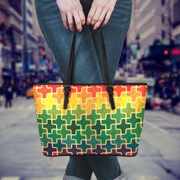 Autism Leather Tote Bag