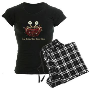 He Boiled For Your Sins Pajamas> He Boiled For Your Sins> Flying Spaghetti Monster Online Store