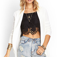 FOREVER 21 Ribbed Open Cardigan