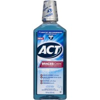 ACT Braces Care Clean Mint Anticavity Fluoride Mouthwash, 18 fl oz - Walmart.com