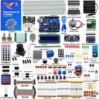 Adeept DIY Electric New Ultimate Starter Learning Kit for Arduino UNO R3 with Guide Book Motor Processing LED Book diy diykit