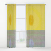 Here Comes the Sun Window Curtains by anipani
