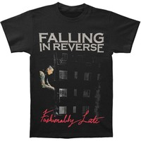 Falling In Reverse Men's  Fashionably Late Album T-shirt Black Rockabilia