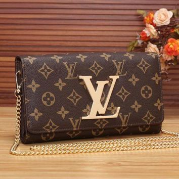 VONE052 Perfect LV Women Shopping Leather Chain Satchel Shoulder Bag Crossbody