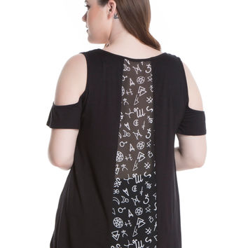 American Horror Story: Coven Wrong Witch Girls Cold Shoulder Top Plus Size