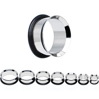 "1/2"" to 1"" Seven Piece Steel Ear Stretching Tunnel Kit 