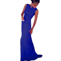 new 2015 women formal maxi dresses floor length Sleeveless summer long dress to party evening elegant Black Blue LC6743-in Dresses from Women's Clothing & Accessories on Aliexpress.com | Alibaba Group