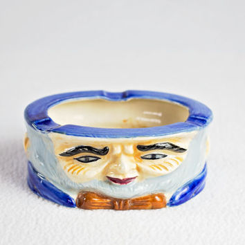 vintage ashtray / ceramic head planter / abe lincoln / hipster home decor