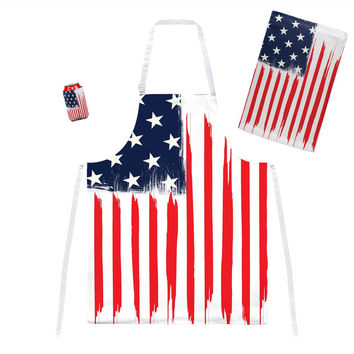 4th of July Brushed American Flag Grill Set