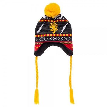 Harry Potter Gryffindor Fairisle Laplander Hat