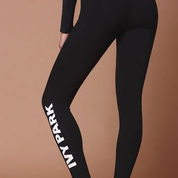 Ivy Park Logo Leggings at PacSun.com - black | PacSun