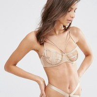 ASOS   ASOS West Strappy Caged Underwired Bra at ASOS