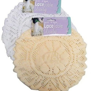 round lace table doily set Case of 24