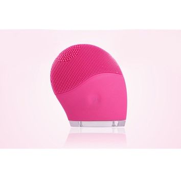 USB Rechargeable Silicone Facial Cleansing Brush - Luiamia Waterproof Sonic Face Cleanser Exfoliator Skin Care System - Electric Face Massager Anti-aging Skin Care - Ultrasonic Beauty Instrument