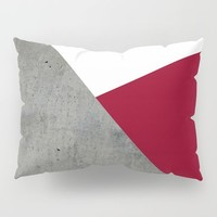 Concrete Burgundy Red White by ARTbyJWP
