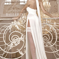255 Hold Ups in Ivory by Ballerina Hosiery
