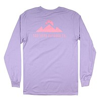 Peak Logo Long Sleeve Tee in Purple Haze by Southern Outdoor Co.