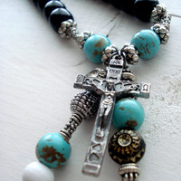 Boho Necklace - Yoga Necklace - Rosary Necklace - Bohemian Necklace - Boho Chic Necklace - Rosary
