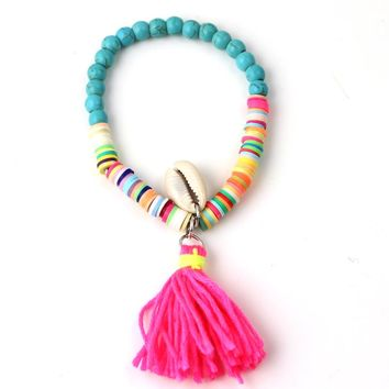 Beach Sea Shell Tassel Bracelet