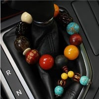 Beads Bodhi Son Car Ornaments Keep Safe Symbolize Car Gears design Auto Accessories Automobile Interior Decoration