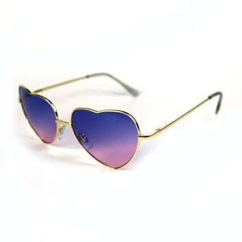 Heart Teashade Sunglasses-Blue